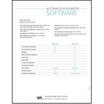 AMTAS Automated Audiometry Datasheet